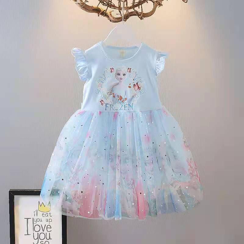 Váy elsa bé gái