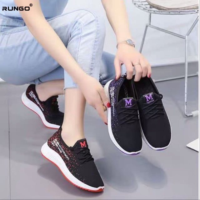 Women Mesh Sport Shoes Lace-up Runing Shoes