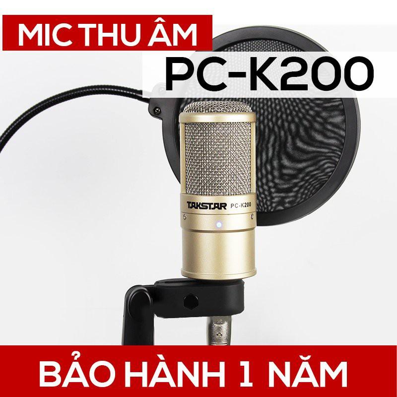 Mic thu âm Takstar PC-K200 chuyên nghiệp [BẢO HÀNH] 1 năm - Mic livestream - Mic karaoke PC K200
