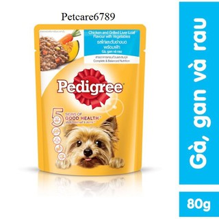 Pate chó dạng sốt Pedigree vị gà, gan và rau củ thumbnail
