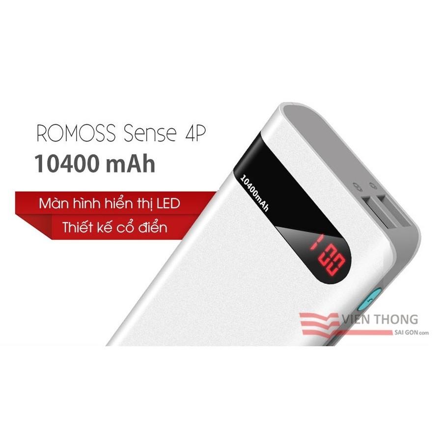 Pin sạc dự phòng Romoss Sense 4P 10.400mAh chính hãng thiết kế mới đầy sang trọng - 2698075 , 302493576 , 322_302493576 , 295000 , Pin-sac-du-phong-Romoss-Sense-4P-10.400mAh-chinh-hang-thiet-ke-moi-day-sang-trong-322_302493576 , shopee.vn , Pin sạc dự phòng Romoss Sense 4P 10.400mAh chính hãng thiết kế mới đầy sang trọng