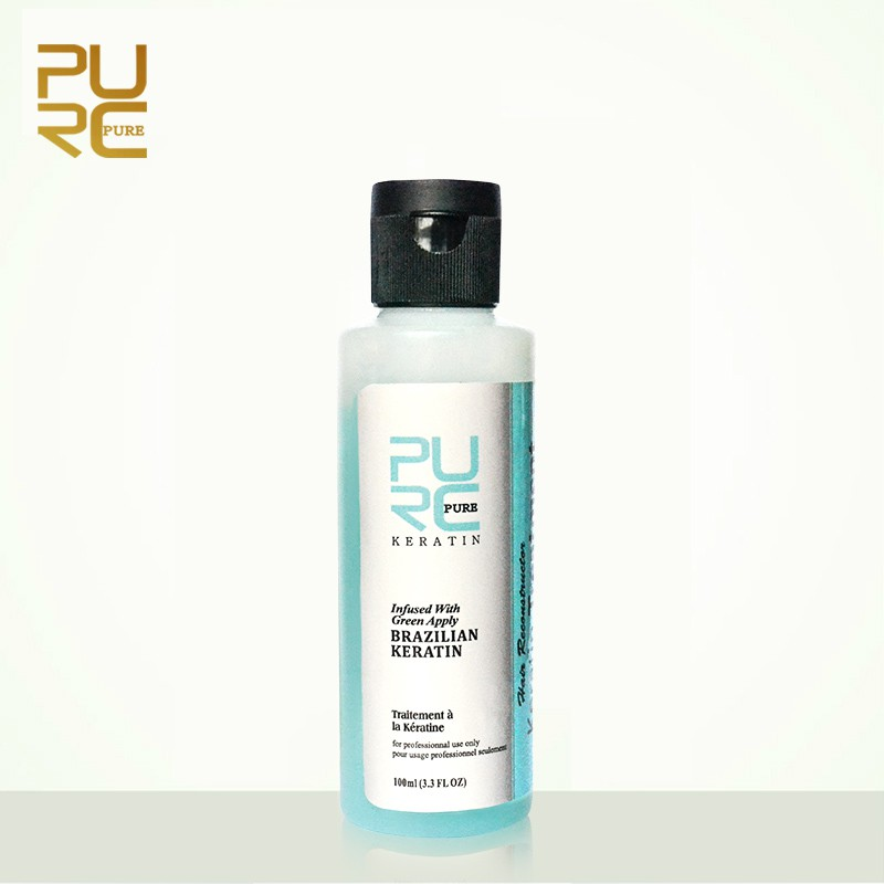 Bộ sản phẩm dầu gội và dầu dưỡng tóc PURC 3.7% Keratin mùi táo phục hồi hư tổn