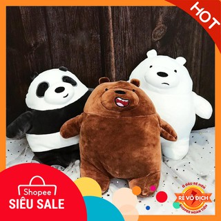 Gấu Bông We Bare Bears Cute Đứng 25cm