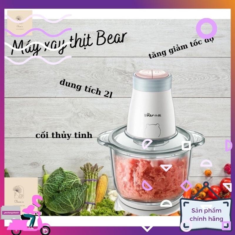 [Có sẵn] Máy xay thịt Bear, cối 2 lít