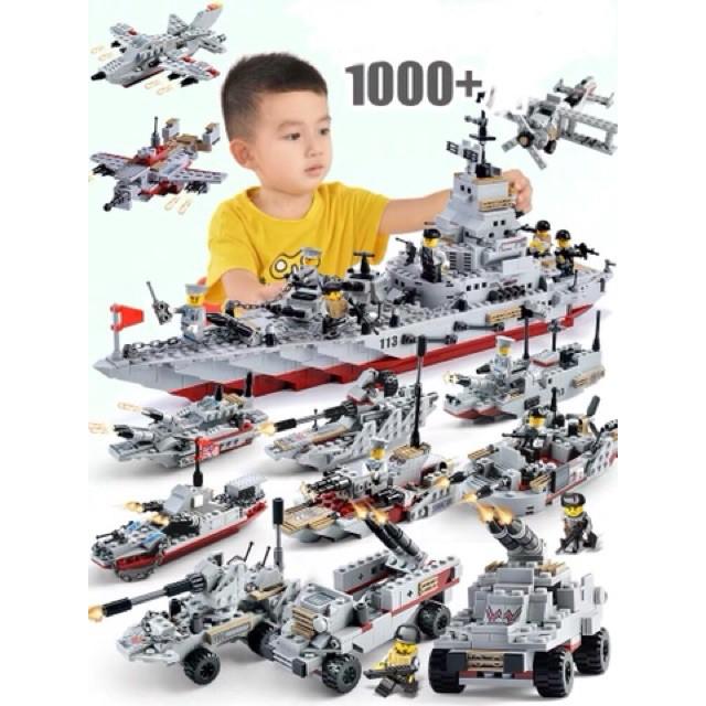 [1000 CHI TIẾT-HÀNG CHUẨN] BỘ ĐỒ CHƠI XẾP HÌNH LEGO CHIẾN HẠM, LEGO OTO, LEGO ROBOT, LEGO THUYỀN