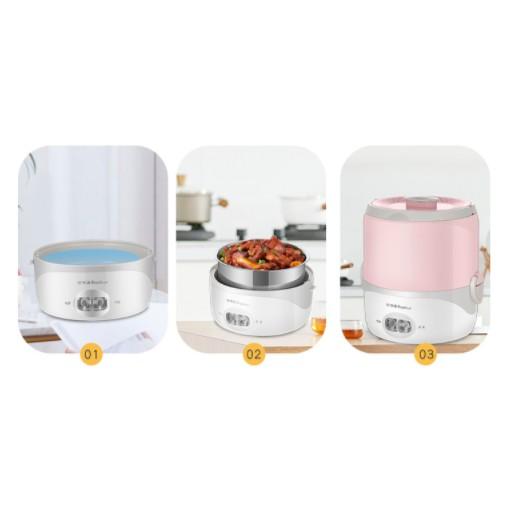Hộp cơm cắm điện Royalstar RFH-30G, hâm nóng, giữ nhiệt, nấu chín thức ăn