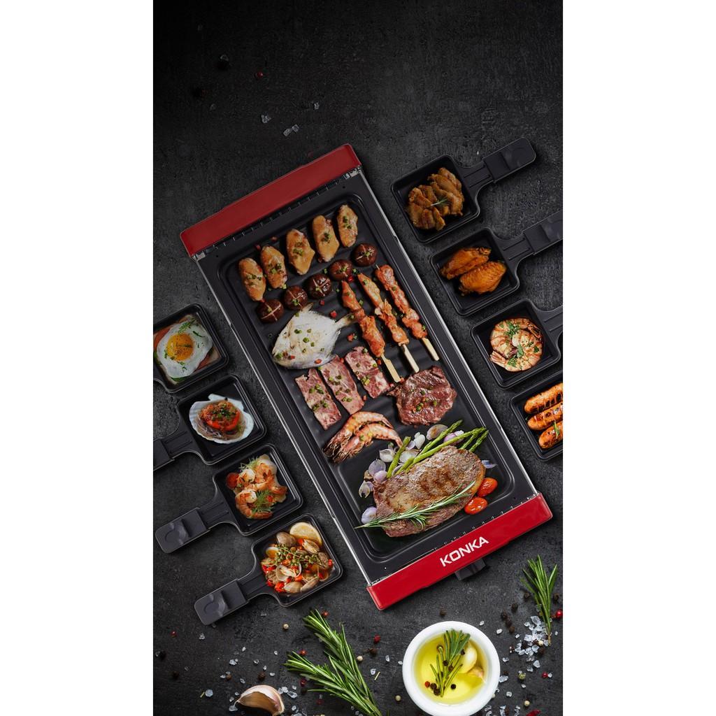 Bếp Nướng Đa Năng Không Khói Đến Từ Thương Hiệu Konka Nổi Tiếng Tặng 8 Chảo Nướng Size Lớn - Số Hiệu Keg - W151D thumbnail