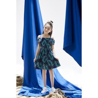 Đầm bé gái trễ vai Emspo , dáng xoè DS3670 GIÁ TỐT NHẤT (Xanh, Đỏ)