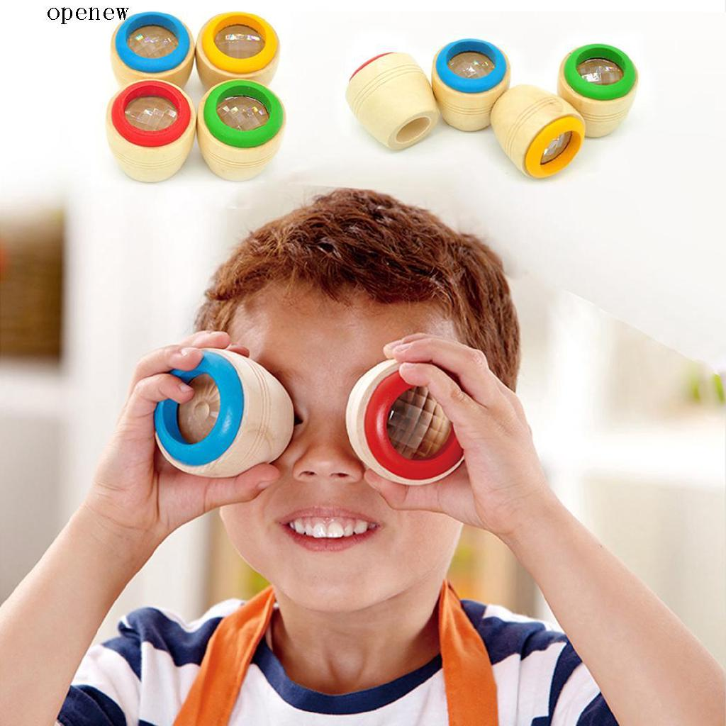 op Wooden Educational Kaleidoscope Baby Children Learning Puzzle Toy Birthday Gift