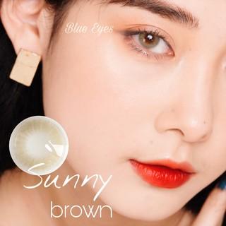 Kính áp tròng Hàn Quốc BLUE EYES SUNNY BROWN – Lens cận thời trang