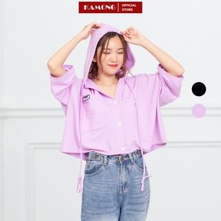 Áo khoác thun croptop có nón KAMONG A060 thumbnail