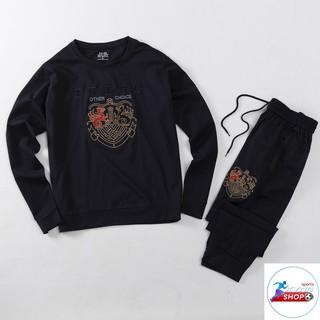 Bộ thể thao cổ tròn thu đông chất liệu vải Umi hàn Mã KB29 kynn shop
