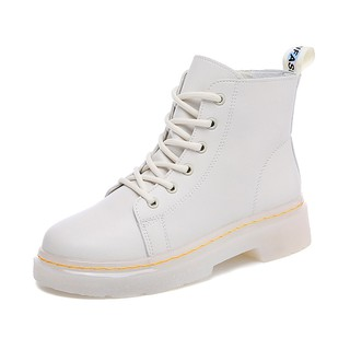 Giày boot Martin YOZOH màu trơn thời trang cá tính cho nữ size 35-40