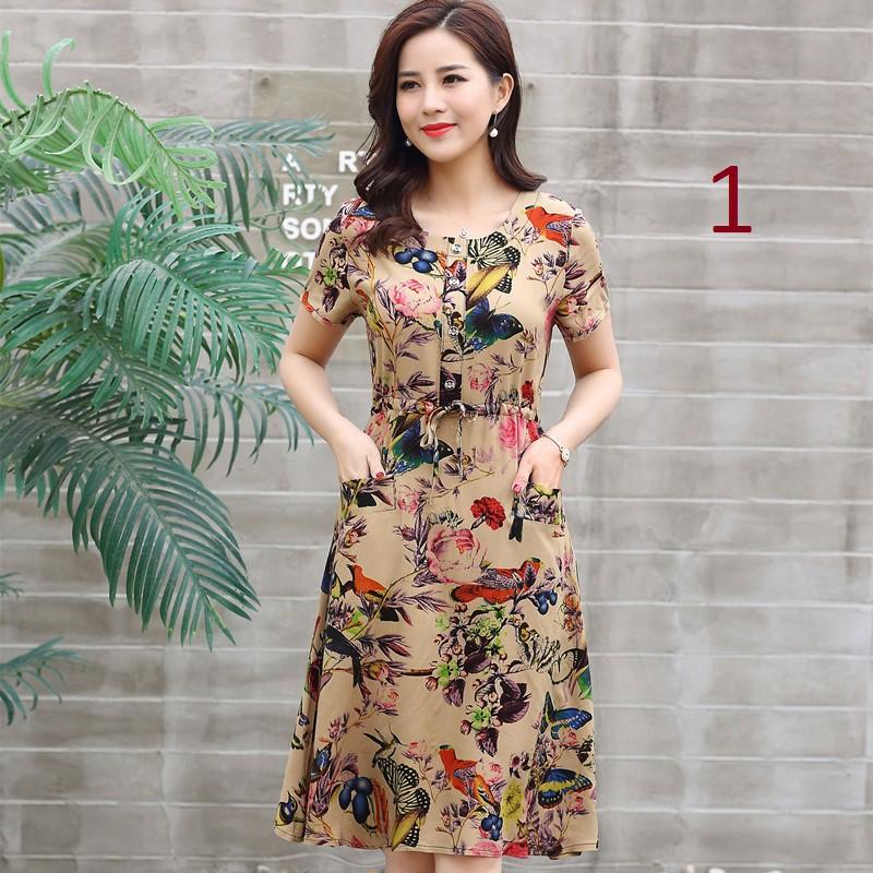 Váy hoa trung niên