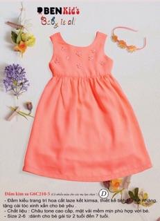 Đầm đính kim sa bé gái xinh 9-18kg- Đầm bé gái - Đầm đẹp cho bé -Chất liệu châu tôn -Tomchuakids.