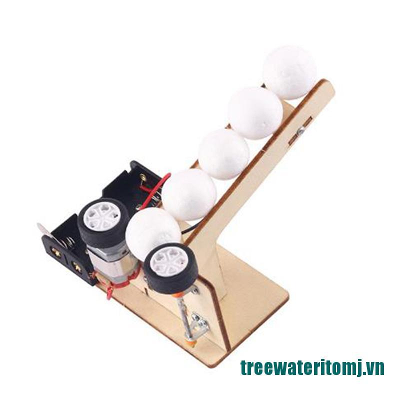 【new】Electric Ball Pitching Machine DIY Science Experiment Model Educational Kit Toys