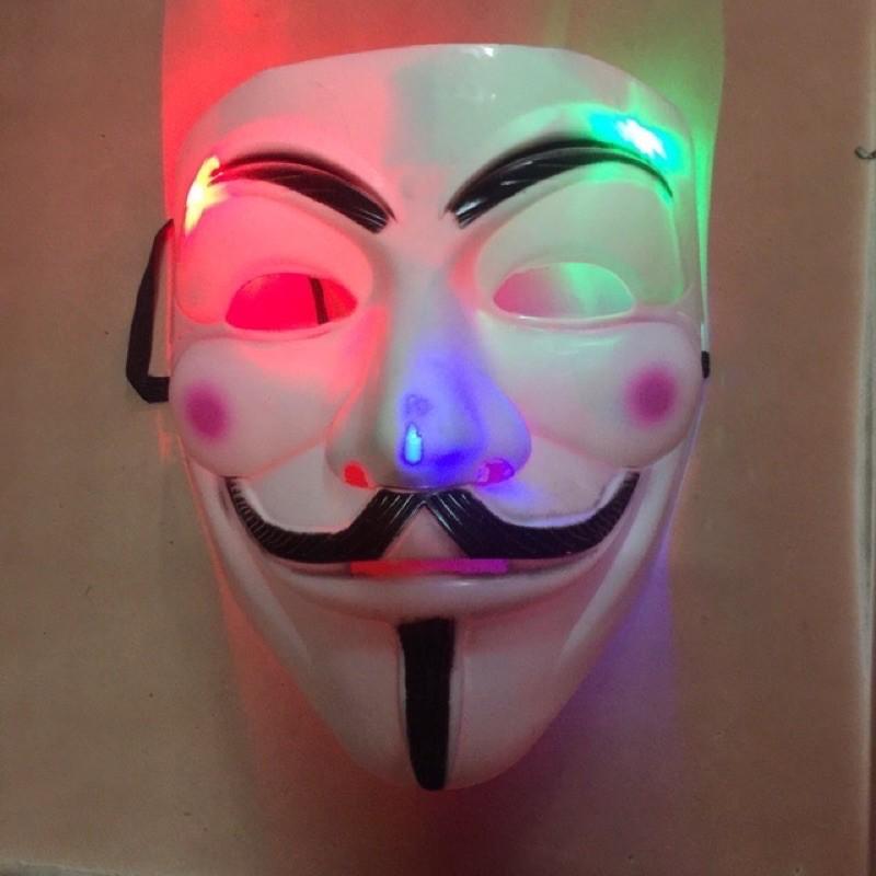 Mặt Nạ Hacker Có Đèn Phát Sáng Loại Dầy Đẹp