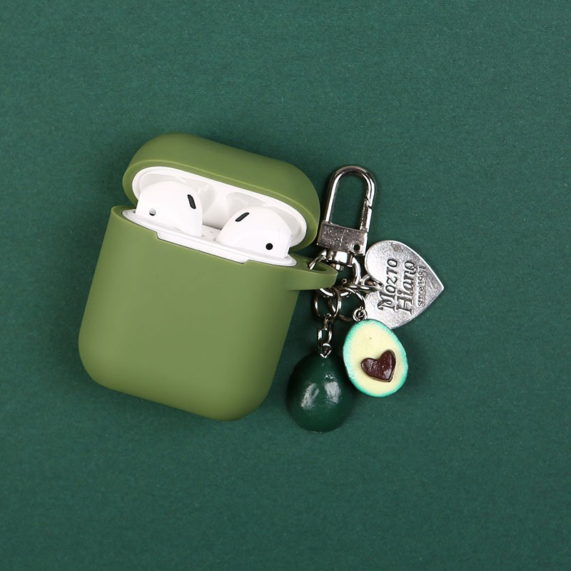 Avocado airpods2 protective cover Korea ins pendant Apple wireless headset silicone case shell key chain buckle