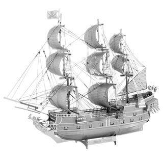 Mô hình lắp ráp kim loại tàu cướp biển Black Pearl Piececool P044-S