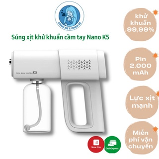 AN Toàn Mùa Dịch Súng xịt khử khuẩn cầm tay đa năng Nano K5 - Máy phun khử trùng cho gia đình, công ty, cửa hàng thumbnail