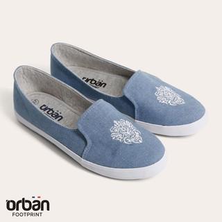 Giày slipon nữ Urban UL1704 bò xanh