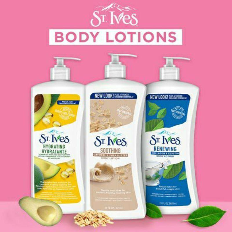 Sữa dưỡng thể toàn thân St.Ives Vitamin E và Bơ