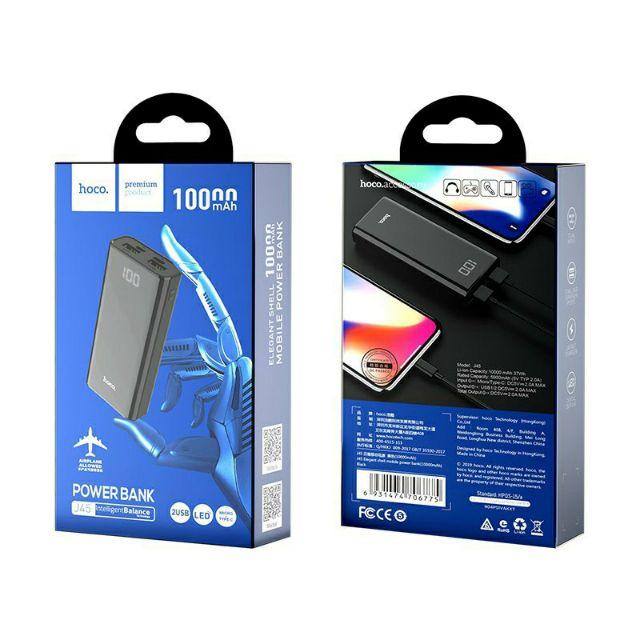 [Mã ELMTCPW10 hoàn 10% xu đơn 300k] Pin sạc dự phòng mini Hoco J45 Elegant shell 10000mAh 2 cổng sạc - Hàng chính hãng