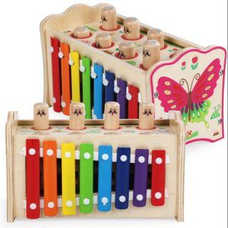 Đồ chơi gỗ đàn kết hợp đập chuột