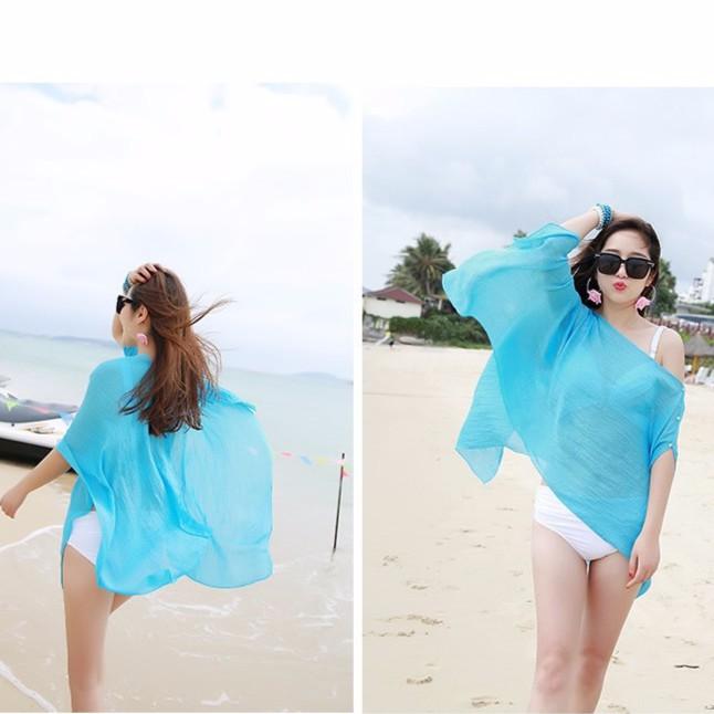 Combo 2 áo choàng đi biển chống nắng duyên dáng