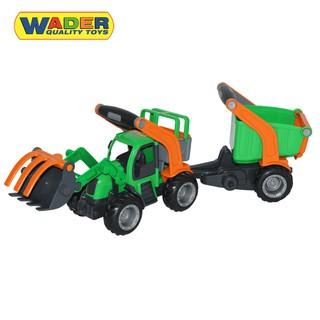 Xe xúc đồ chơi kết hợp xe kéo GripTrac – Wader Toys