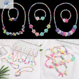 L1 1 Set Resin Plastic Beautiful Kids DIY Accessories Children Birthday Gifts Princess Jewelry Crafts Girl Beads Toys