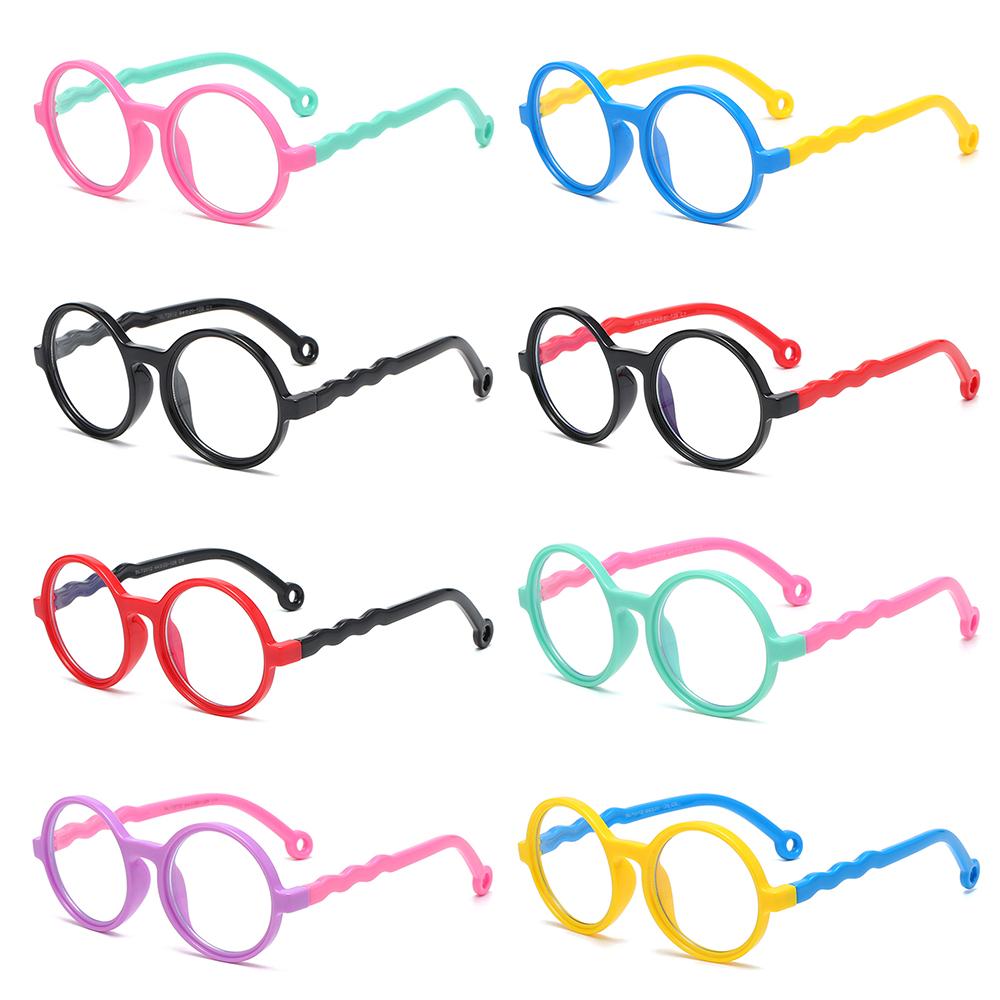 DIACHA Age 3-10 Blue Light Blocking Glasses Soft Computer Gaming Glasses Blue Light Glasses for Kids Anti-eyestrain UV400 Protection Silicone...