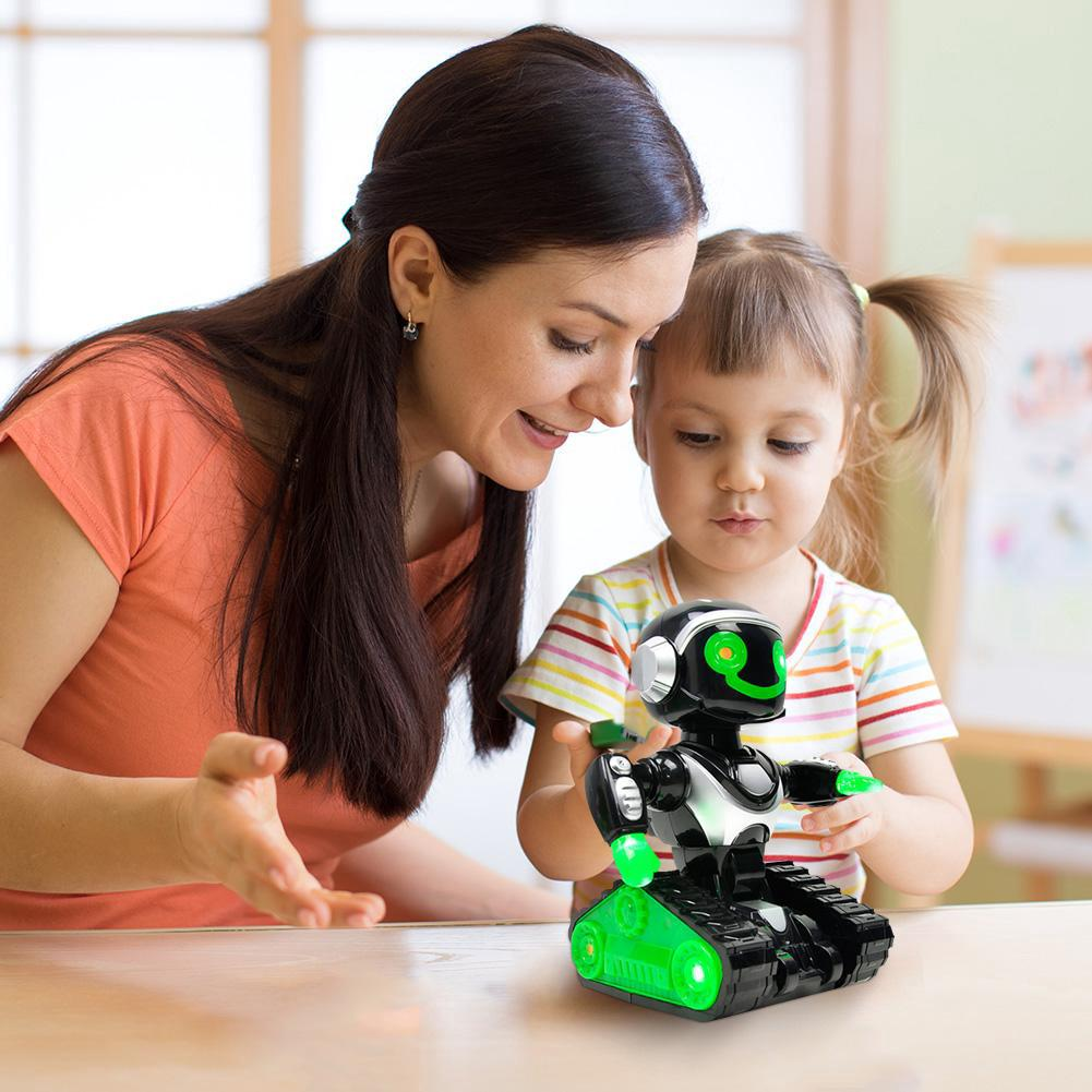 ♠♠♠Kids Robot Toy Dancing Music Light Robots Child Early Education Puzzle Gift