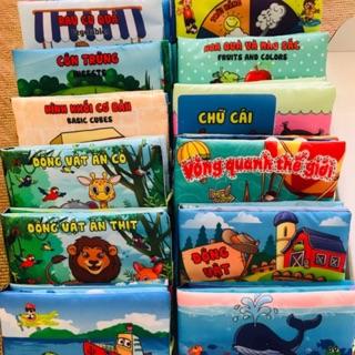 Sách vải song ngữ nhiều chủ đề hàng Việt Nam chất lượng cao