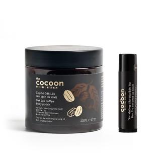 Combo Cà phê Đắk lắk làm sạch da chết cocoon 200ml + Son dưỡng dầu dừa Bến Tre cocoon 5g thumbnail
