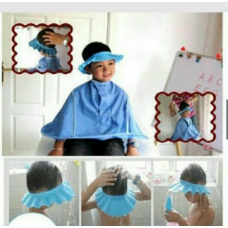 Mũ tắm nước có vành tai cho bé