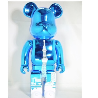 Bearbrick Tokyo Chrome Blue 400%