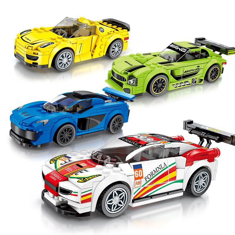 Sembo Bộ Đồ Chơi Lắp Ráp Lego Hình Xe Hơi Độc Đáo Thú Vị