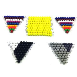 Bộ 46 sâu hạt cườm giáo cụ montessori đồ chơi giáo dục