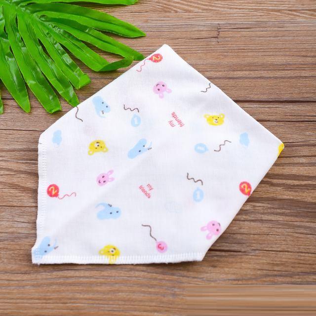 Combo 20 khăn yếm tam giác Xô cotton cao cấp 2 lớp có cúc bấm