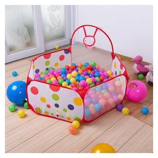 đồ chơi Giỏ Kèm 100 Bóng nhựa mềm cho bé Mãcm99