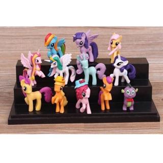 [Rẻ nhất shopee] set 12 ngựa Pony xinh đẹp cho bé yêu