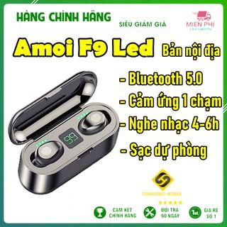 Tai Nghe Bluetooth True Wireless AMOI F9 Led V5.0 | Bản Nội Địa | Cảm Biến Vân Tay, Sạc Dự Phòng