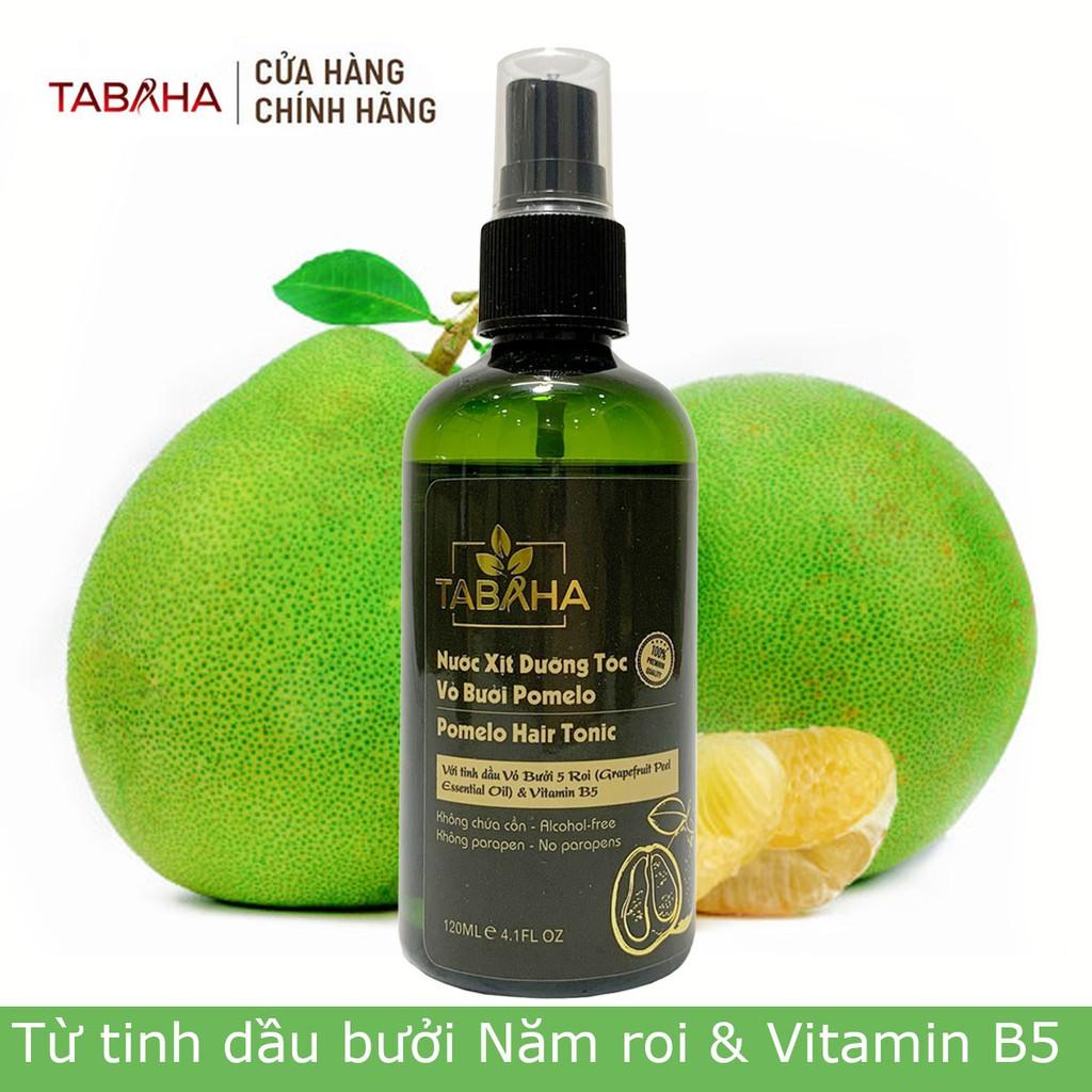 Xịt tóc tinh dầu bưởi Tabaha Pomelo 120ml giảm rụng tóc kích thích mọc tóc nhanh