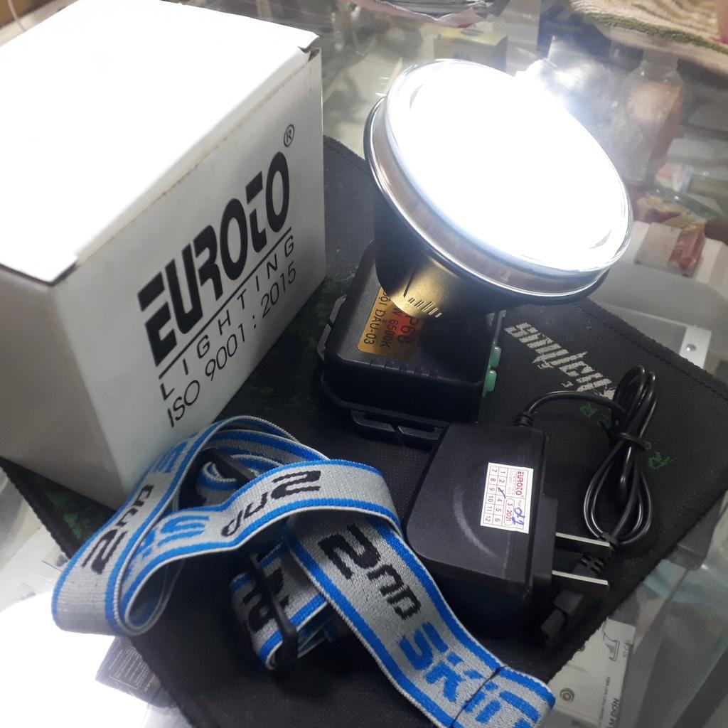 Đèn pin đội đầu LED 7W Euroto rọi xa 800m,2 chế độ siêu sáng&,trung bình,  (sử dụng 8-12 giờ dưới nước) - Đèn & Đèn Pin