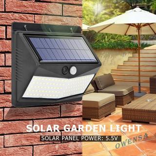 Đèn năng lượng mặt trời 100LED cảm biến chuyển động PIR trang trí vườn kèm phụ kiện