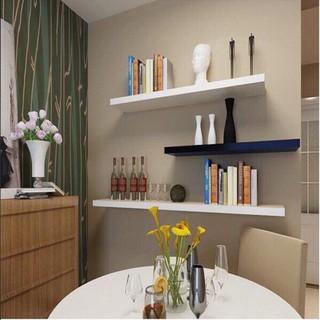 (80x15cm ) COMBO 3 thanh ngang kệ treo tường gỗ ( màu trắng, vàng, nâu, đen…)