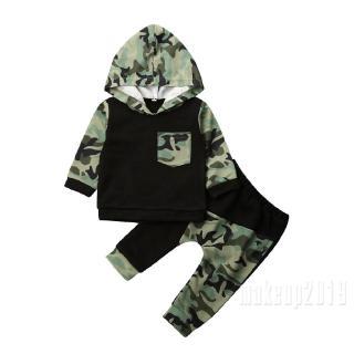 Mu♫-New Cute Newborn Baby Kids Girl Clothes Thick Striped Dinosaur Long Sleeve Hooded Sweater Shirt Tops+Sport Pants