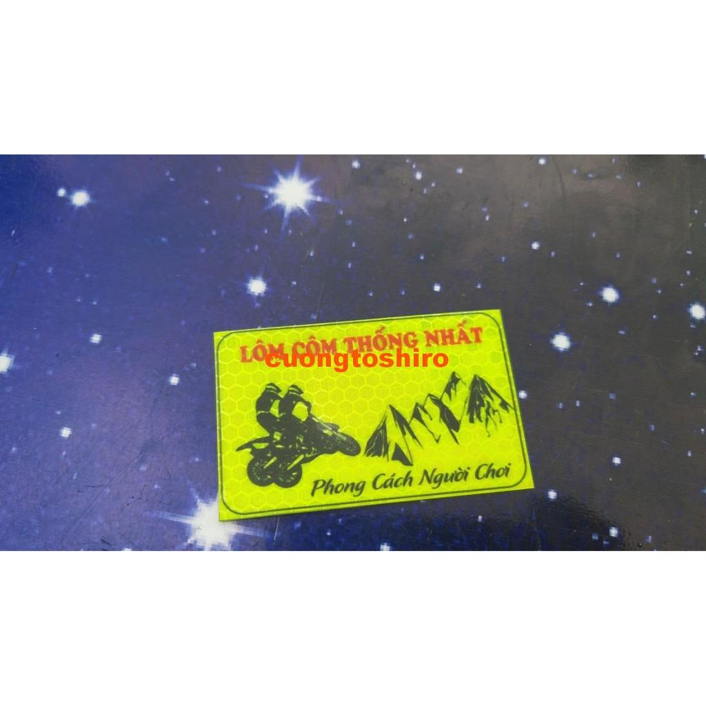 Logo phản quang Lôm Côm Thống Nhất sáng rực vào ban đêm hàng Xịn 100% shop cuongtoshiro