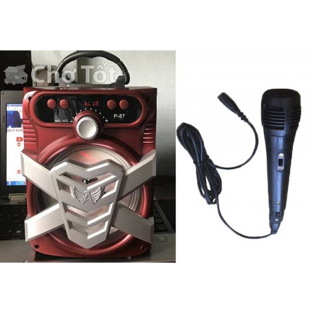 Loa Karaoke Bluetooth P86, P87 (tặng micro) - BH 6 tháng